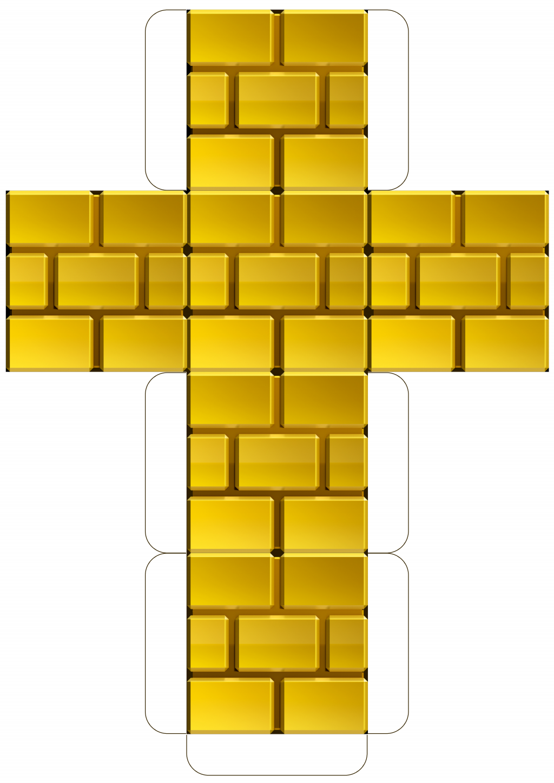 Mario Gold Brick Block Template Pdf Google Drive Mario Super Mario Kinderfeestje