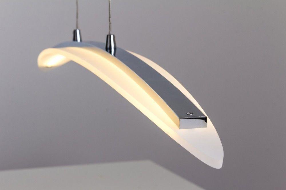 Design LED Hängeleuchte chrom Pendelleuchte Pendellampe Hängelampe Verstellbar