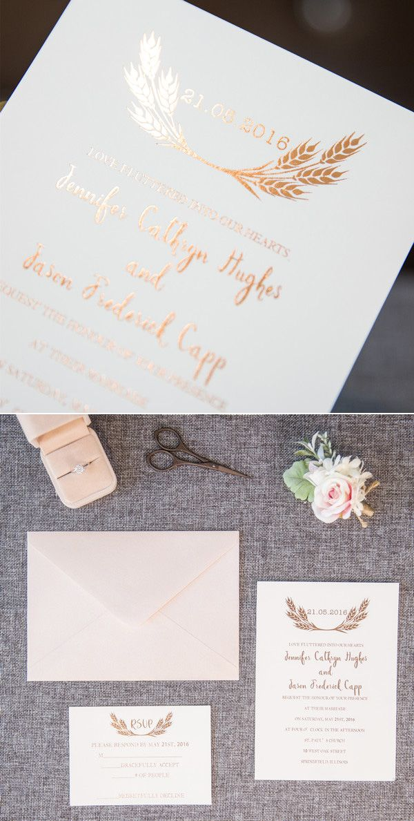 Elegant Rose Gold Foil Stamped Wedding