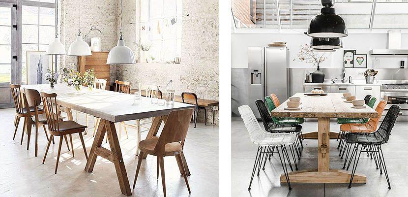 Como decorar un comedor de estilo industrial interiores for Mesa de comedor de estilo industrial