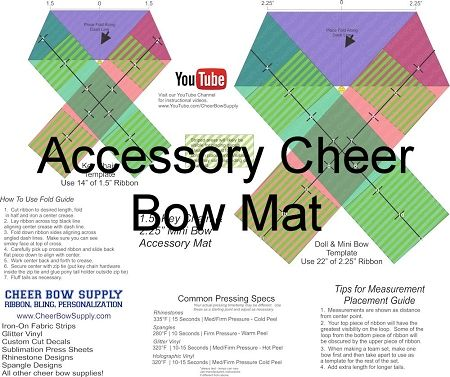 DIY Cheer Bow Long Tail Softball Cheer Bow Template Mat | bow ...