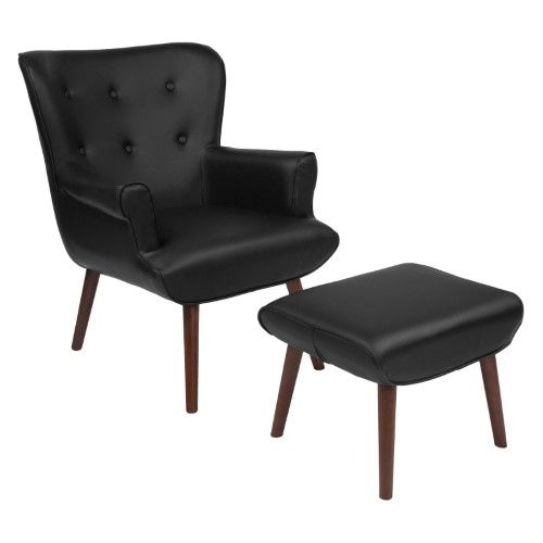 Flash Furniture Bayton Upholstered Leather Wingback Accent Chair