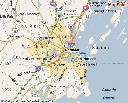 Portland Maine Portland Maine USA Favorite Places East Coast - Map of maine usa