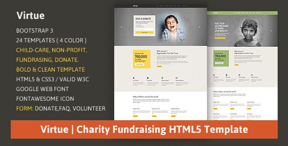 Google Website Templates Virtue  Nonprofit Website Template Responsive
