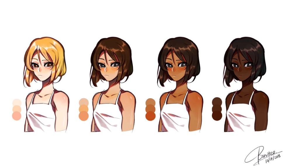 Anime Skin Color Palette Q House Pl Skin Color Palette Anime Hair Color Skin Palette