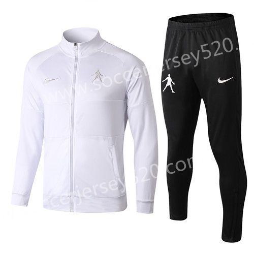 1dec945ad1dc 2018-19 Jordan Paris SG White Thailand Soccer Jacket Uniform-815 in ...