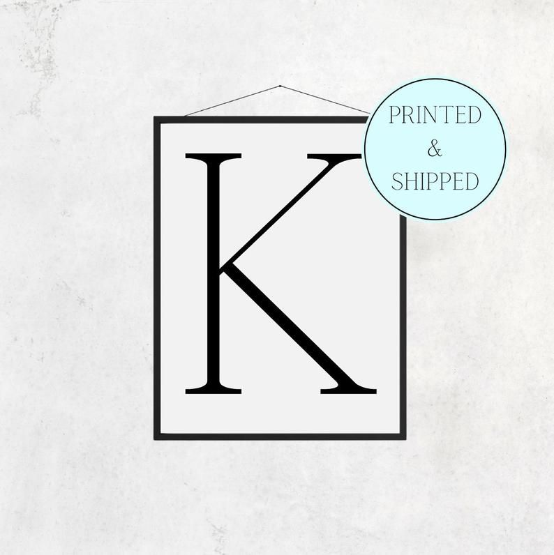 K Print Letter K Print Alphabet Print Letter Print Simple   Etsy