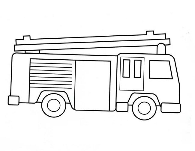 Easy Fire Truck Coloring Pages Truck Coloring Pages Firetruck Coloring Page Fire Trucks