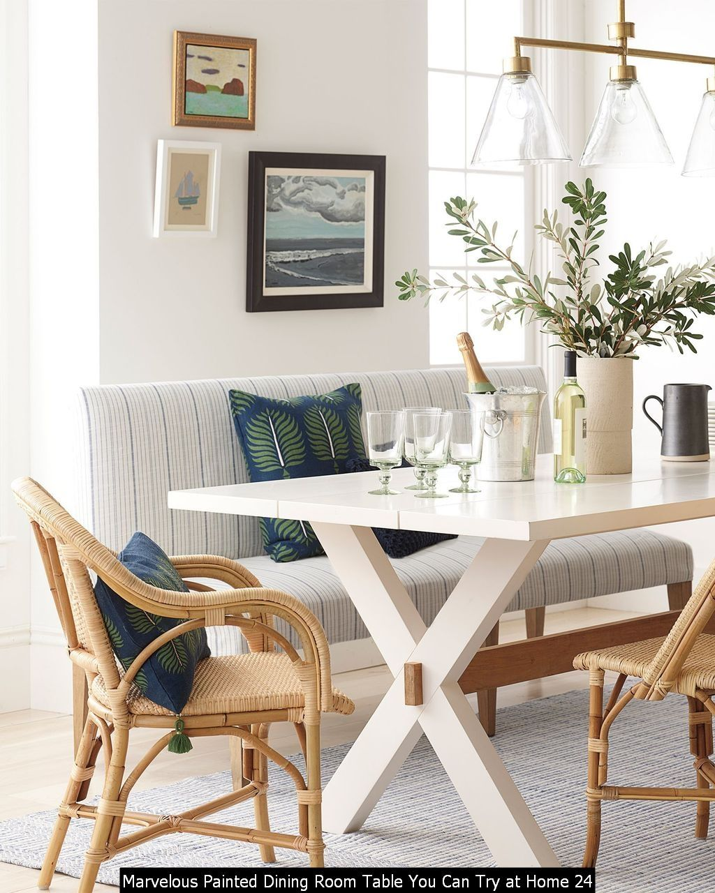 30 Marvelous Painted Dining Room Table You Can Try At Home In 2020 Painted Dining Room Table Coastal Dining Room Dining Room Design