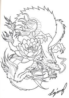 Japanese Dragon By Drito D4p2idu Png 900 1281 Dragon Tattoo Stencil Dragon Sleeve Tattoos Japanese Dragon Tattoos