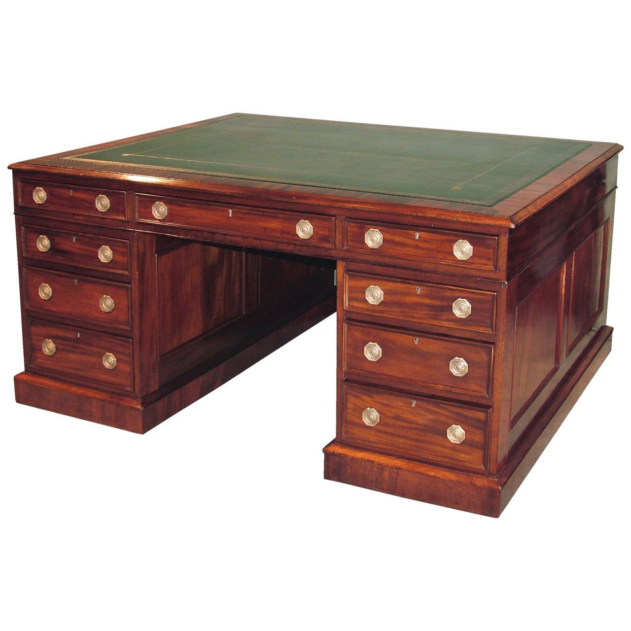 A 19th Century Mahogany Library Partners Desk 1stdibs Com Partners Desk Furniture Desk