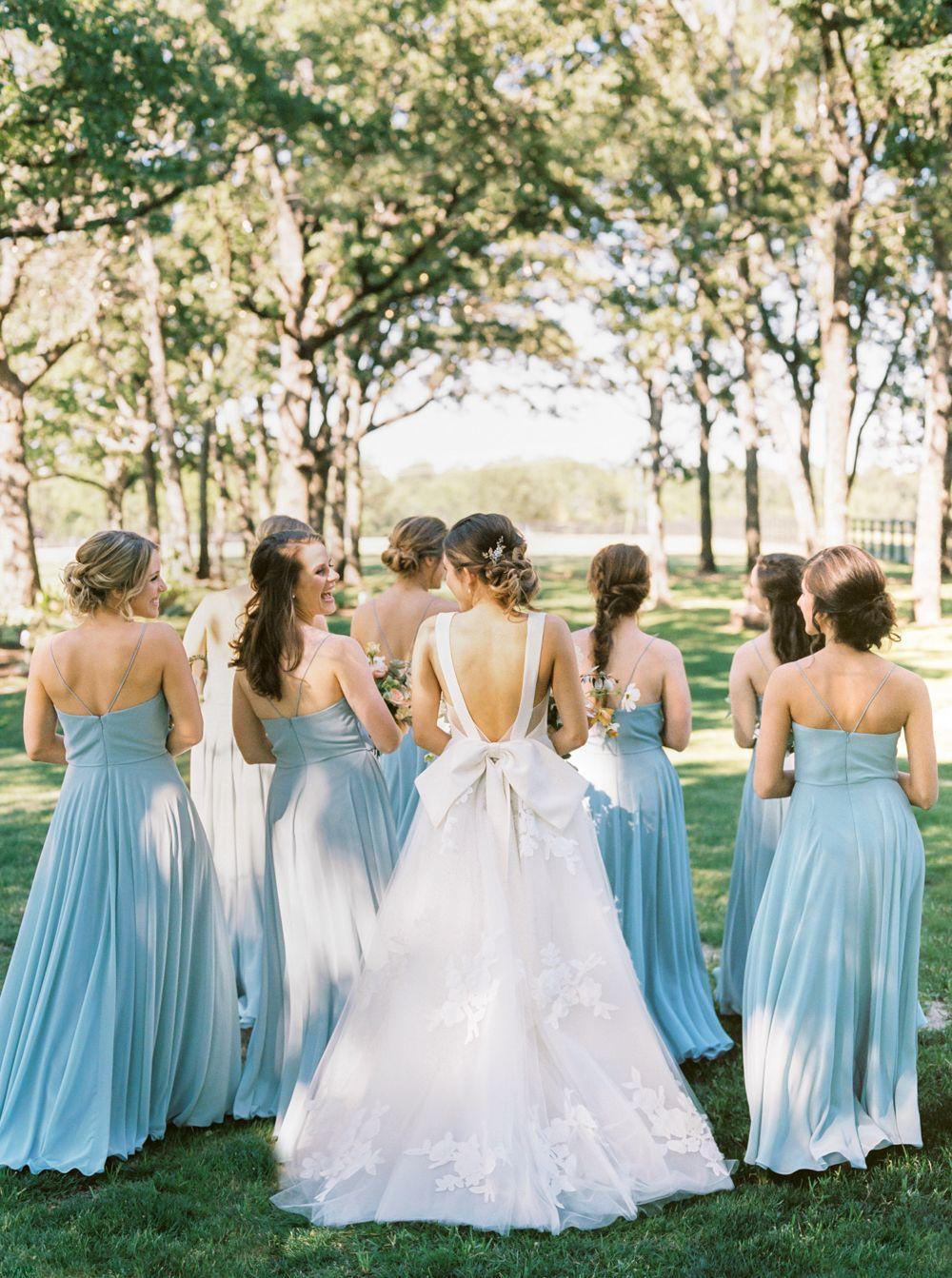 Blue bridesmaid dresses wedding dresses pinterest wedding