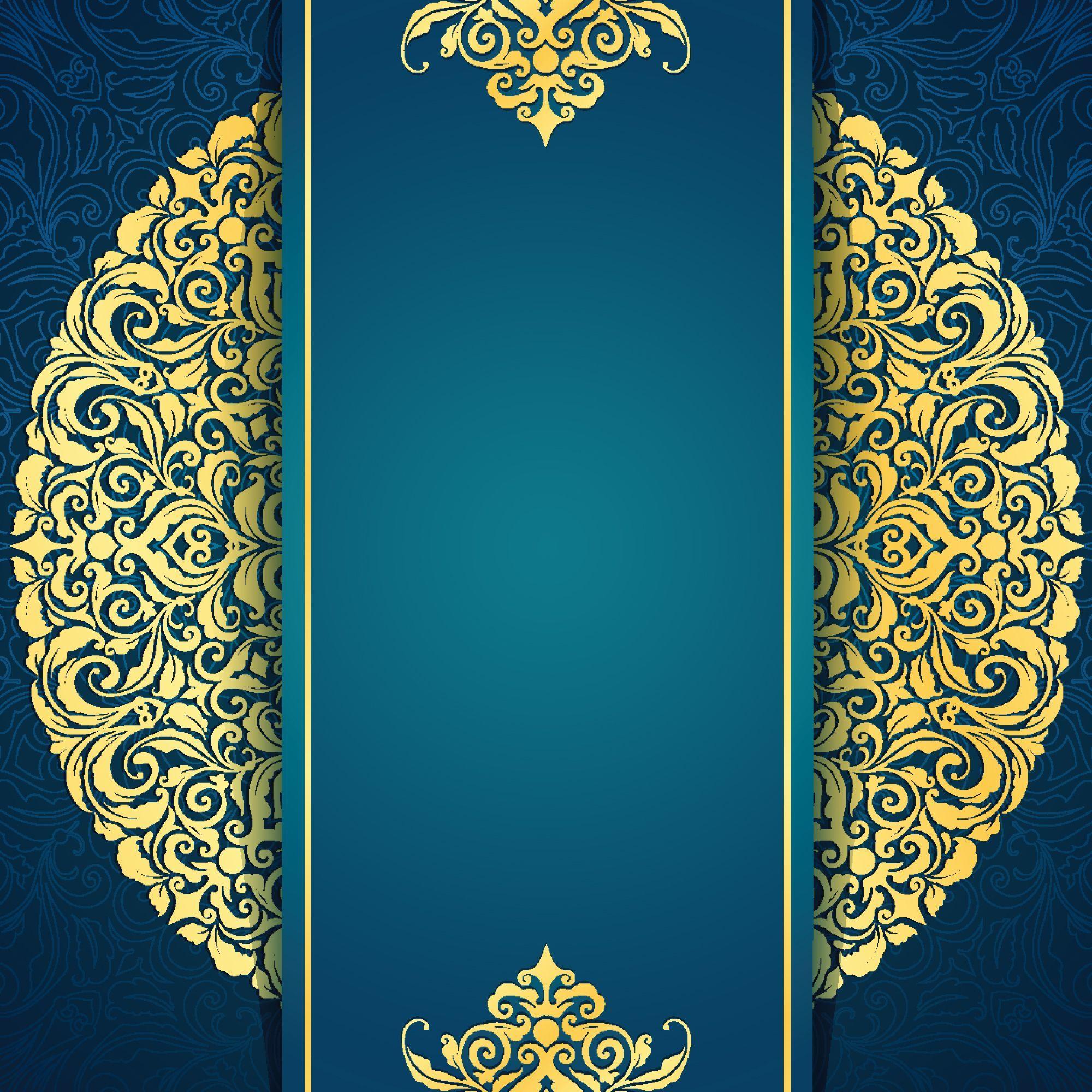 Royal Blue Hd Background For Wedding Invitation