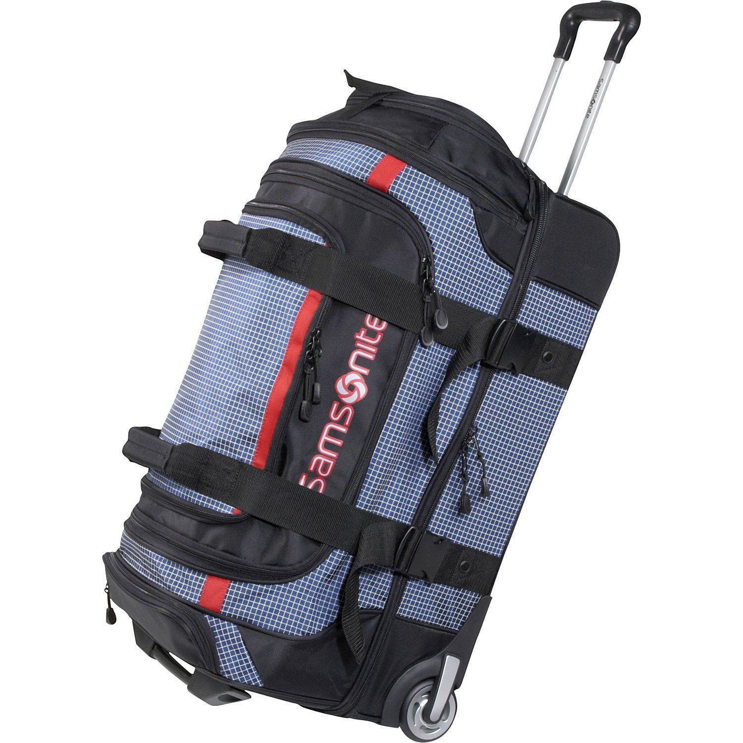 Blue Samsonite Luggage Ripstop Wheeled Duffel 35