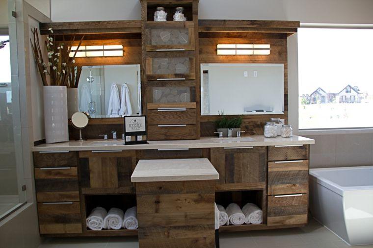 muebles baños rusticos y modernos mezcla Fotos de ideas de