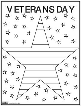 Help Your Students Celebrate Veterans Day With This Easy To Use Coloring Page