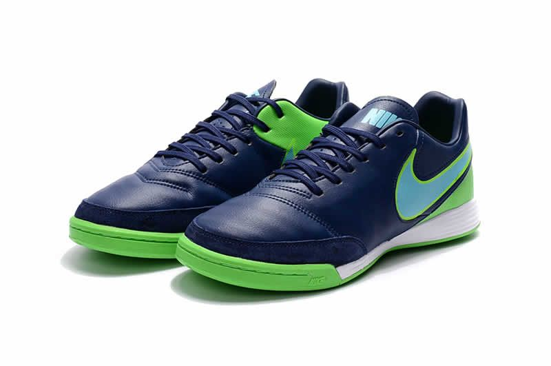 Cheap NIke Tiempo Mystic V IC 2017 Soccer Cleats Dark Blue Green