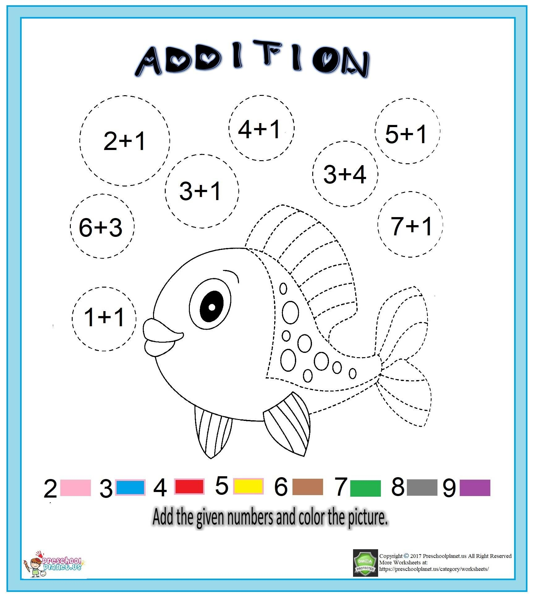 Addition Worksheet For Kids