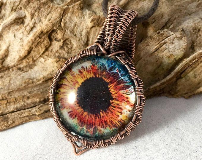 Eyeball necklace eyeball pendant wire wrapped jewelry wire eyeball necklace eyeball pendant wire wrapped jewelry wire wrapped eyeball jewelry eye aloadofball Image collections