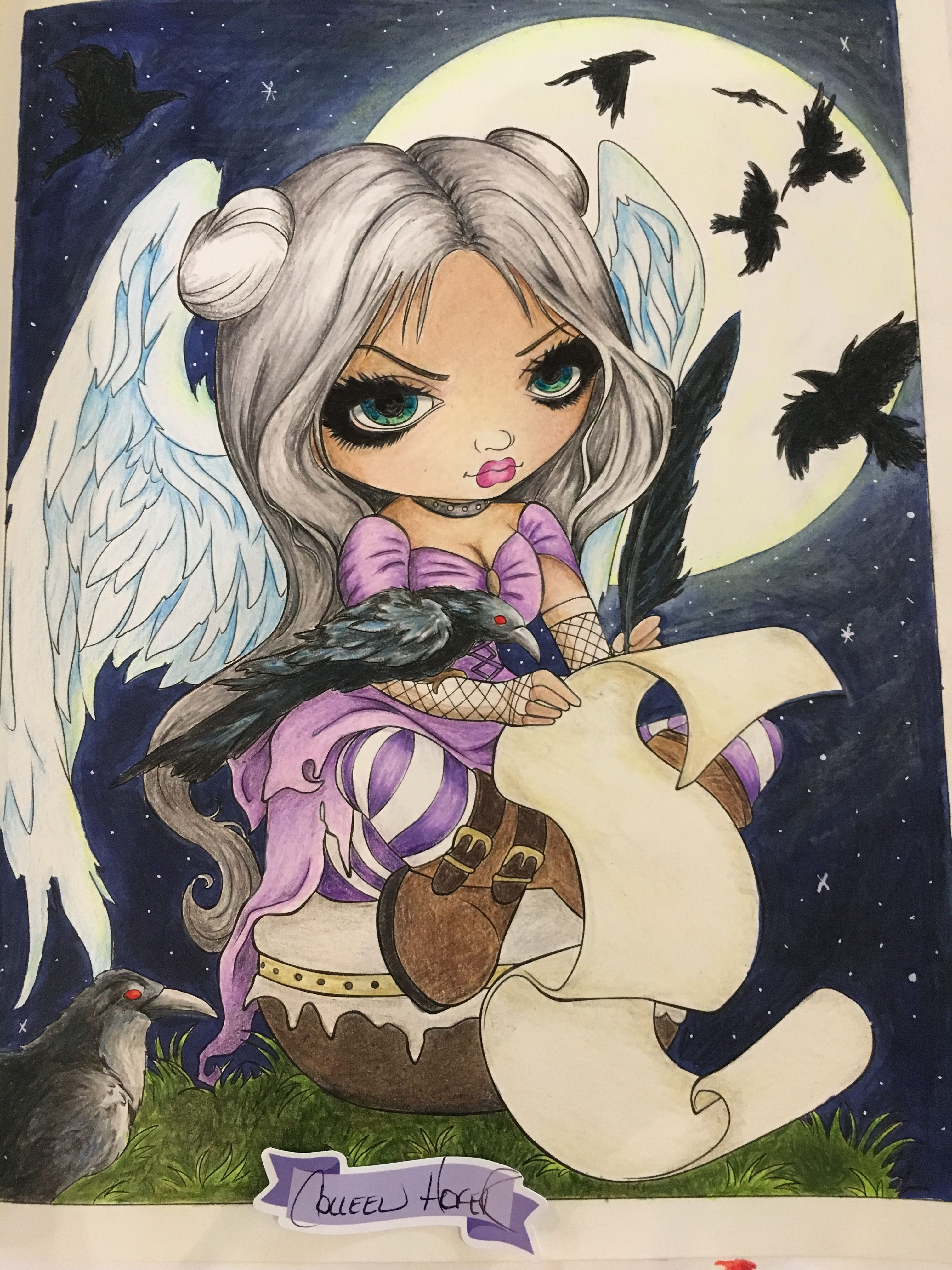 Finally Finished My Coloring Page From Jasmine Becket