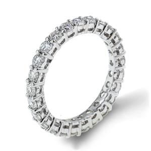 Shop online Arthurs Collection RAD-18045 Diamond Prong Set 18K - White Gold Womens Wedding bands  at Arthur's Jewelers. Free Shipping