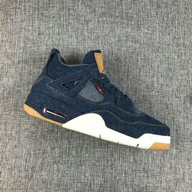 97342b3f55e 2018 Cheapest AIR JORDAN 4 RETRO LEVIS NRG LEVIS denim denim-sail-game red  AO2571 401 Size 8