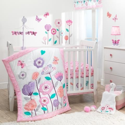 Magic Garden 3 Piece Crib Bedding Set Girl Crib Bedding Sets Crib Bedding Girl Baby Girl Crib Bedding 3 piece crib bedding set