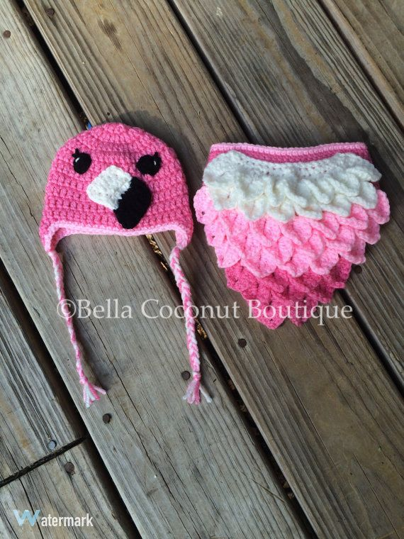 Flamingo Photo Prop, Flamingo Baby Costume, Crochet Photo Prop ...
