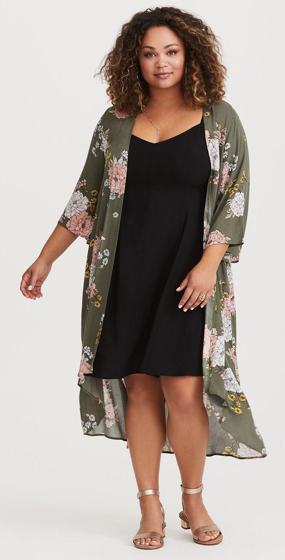 Plus Size Kimono Plus Size Fashion For Women Plussize Ropa Moderna Para Gorditas Moda Kimono Moda Para Curvas