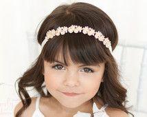 Flower Girl Headband, Fancy Headbands, Bling Headband, Beaded Headband, Wedding Head Band, Crystal Headband, Rhinestone Headband,