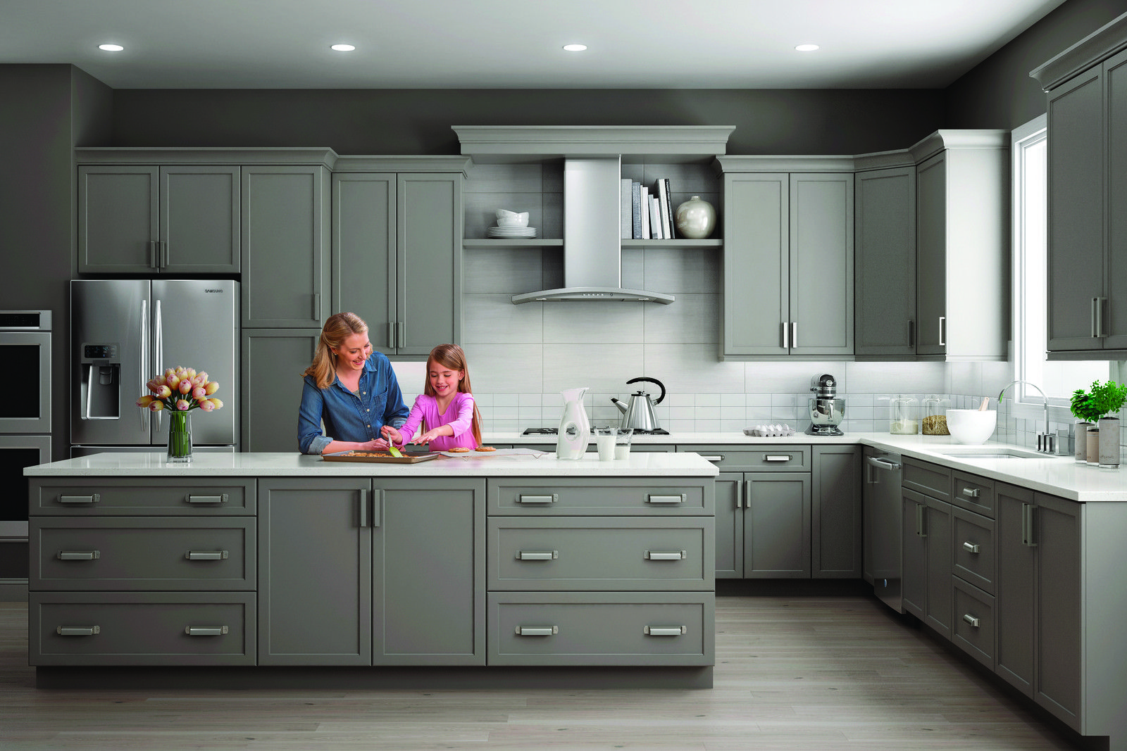 Haven In Pebble Paint In The Wolf Transition Line Quality Kitchen Cabinets Solid Wood Kitchen Cabinets Grey Kitchen