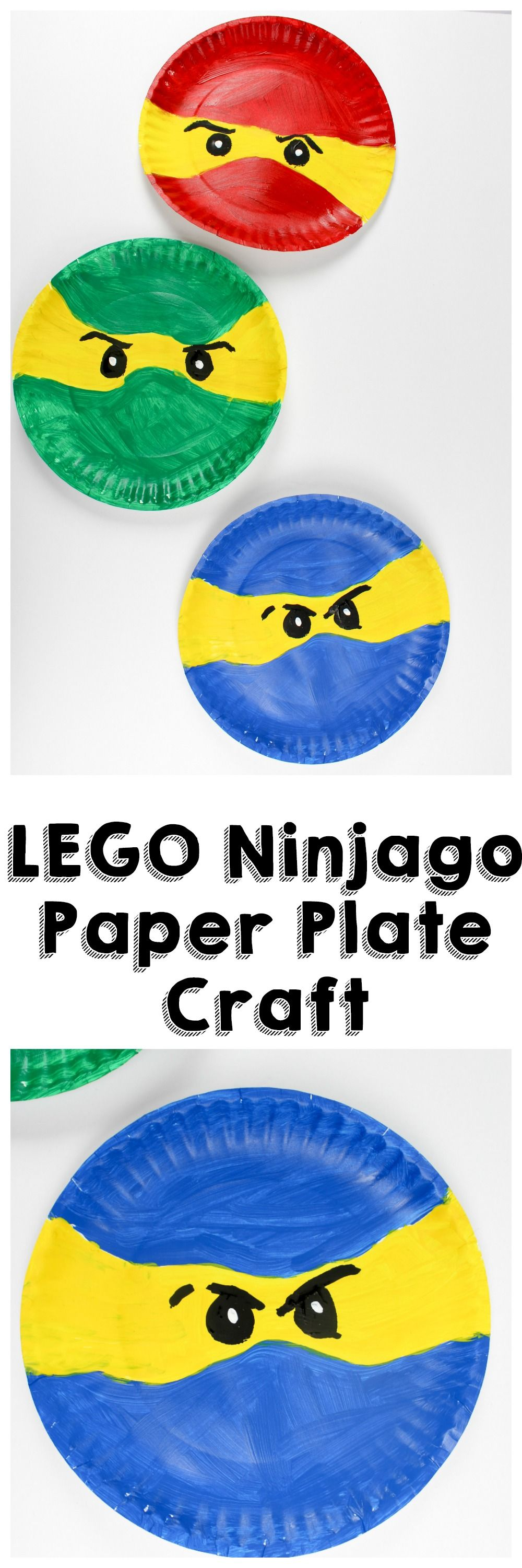 LEGO Ninjago Paper Plate Craft - Sippy Cup Mom  sc 1 st  Pinterest & LEGO Ninjago Paper Plate Craft | Paper plate crafts Lego ninjago ...