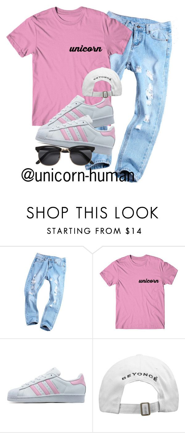 """Untitled #1987"" by unicorn-human on Polyvore featuring adidas Originals"