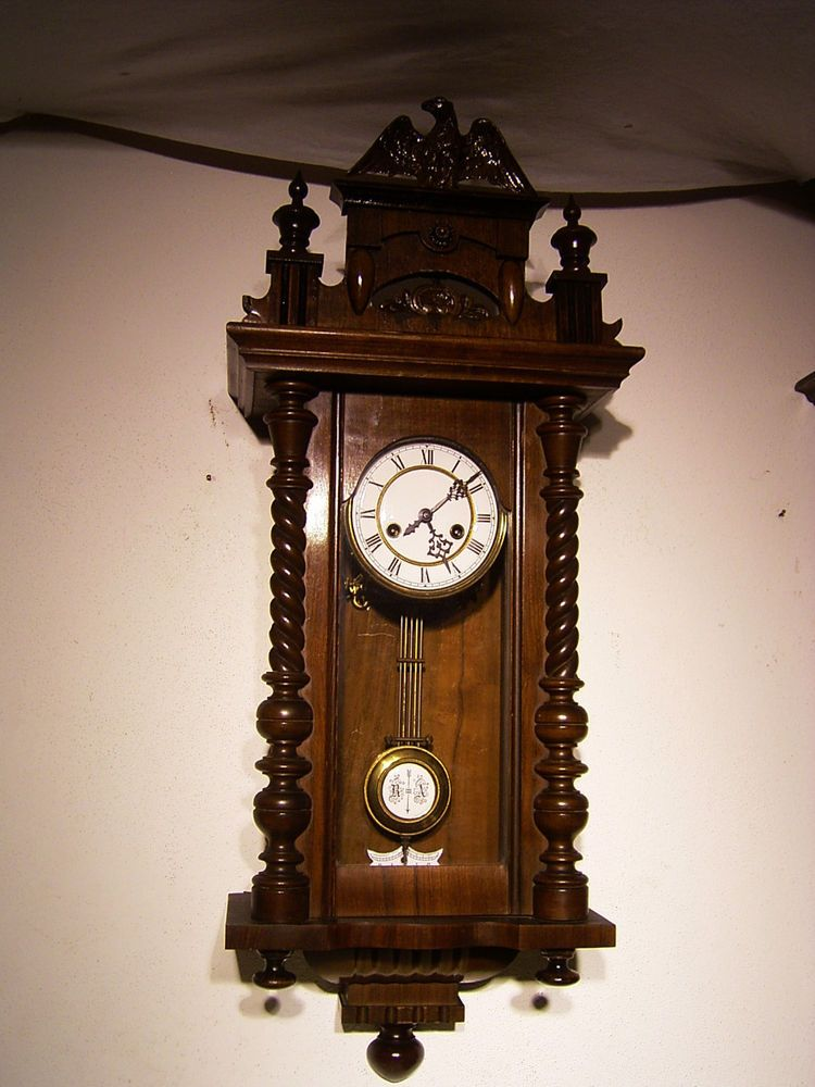 Antique German Gustav Becker Wall Clock At 1885 1900 Wall