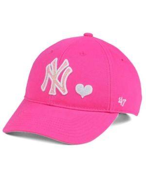 08fd4c91236  47 Brand Girls  New York Yankees Sugar Sweet Mvp Cap - Pink Adjustable