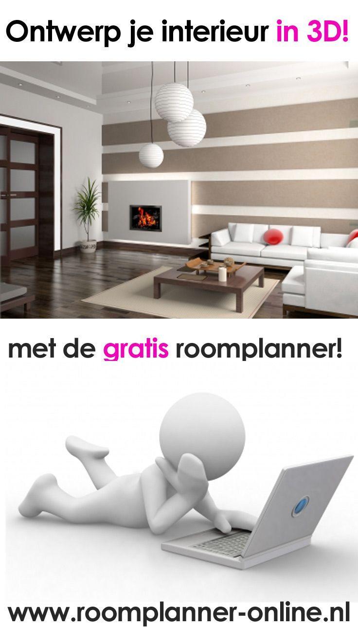 Ontwerp je interieur in 3D met de gratis roomplanner op http://www ...