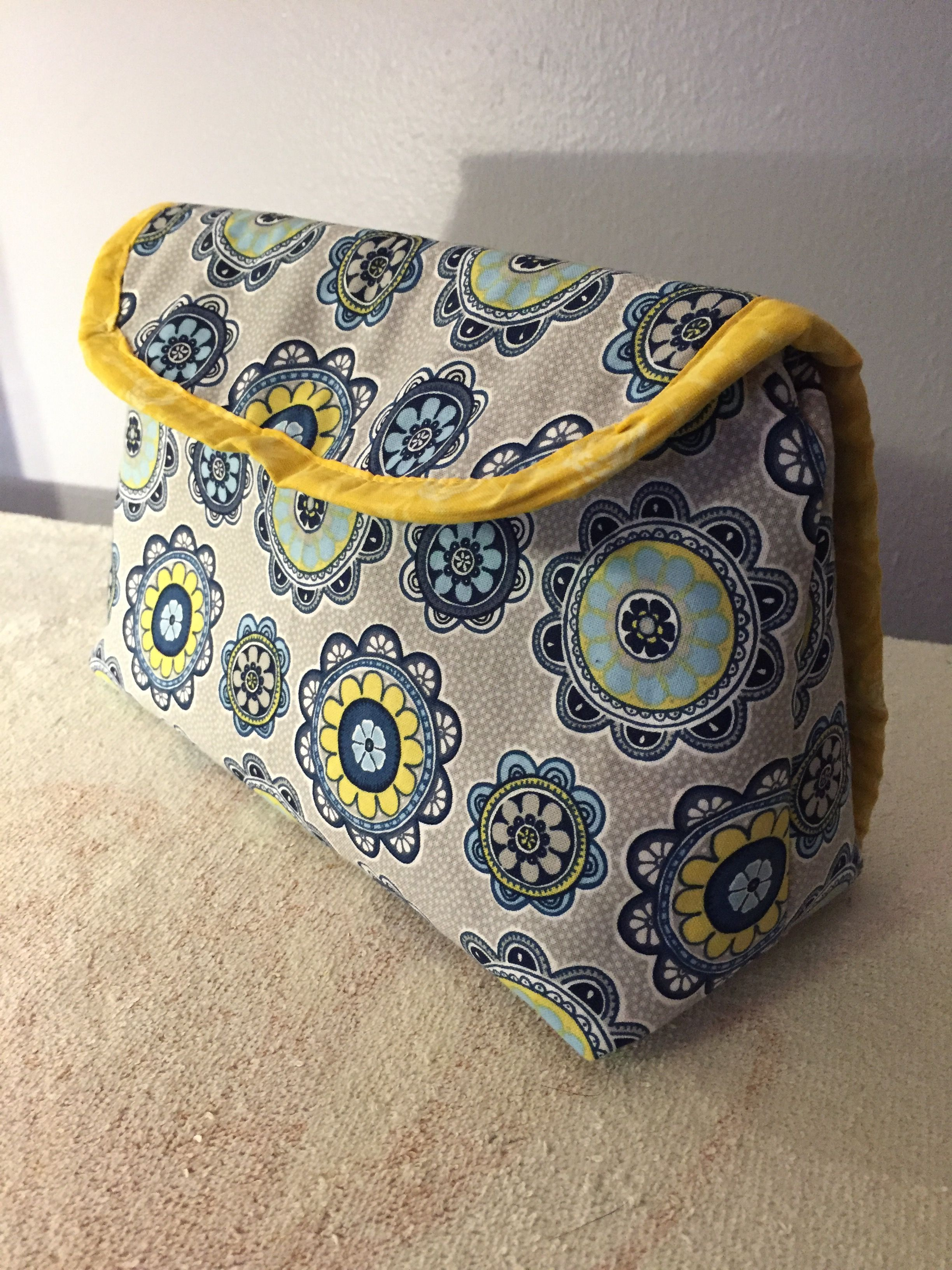 Cosmetic bag with brush roll