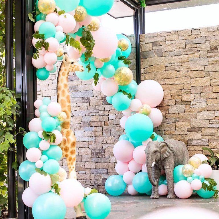 decoracion de fiestas en color rosa cuarzo (3 Kids