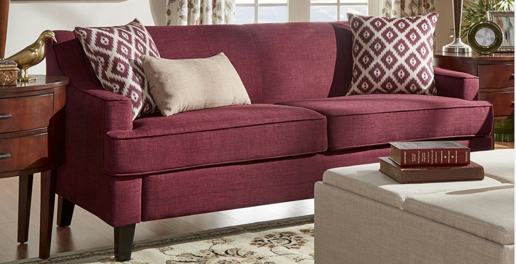 Burgundy Sofa Apartment Ideas Pinterest
