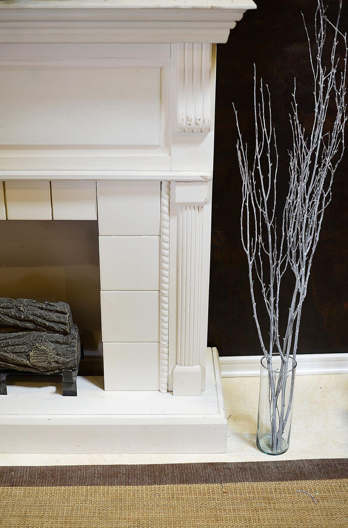 decorative birch branches whitewashed 34ft apartment goals