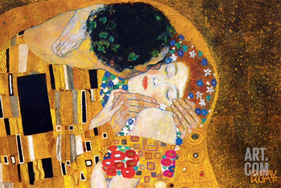 The Kiss, c.1907 (detail) Print by Gustav Klimt at Art.com ...