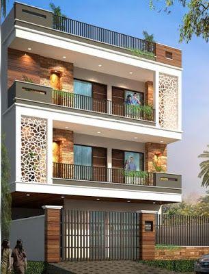Modern House Front Design Ideas Exterior Wall Decoration Trends 2019 House Front Design 3 Storey House Design Small House Elevation Design