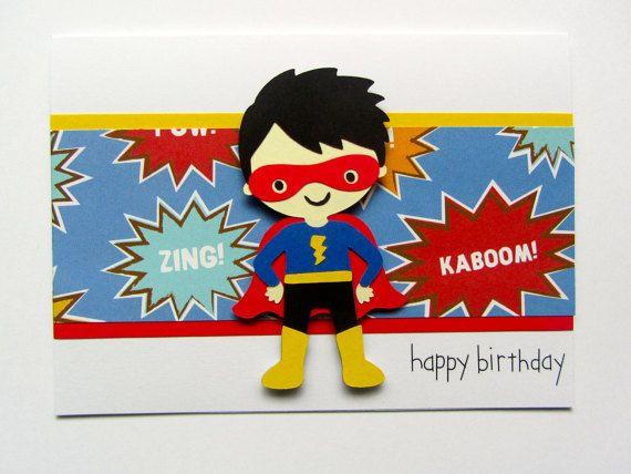 Superhero Birthday Card Boy Birthday Card Nephew Birthday Card