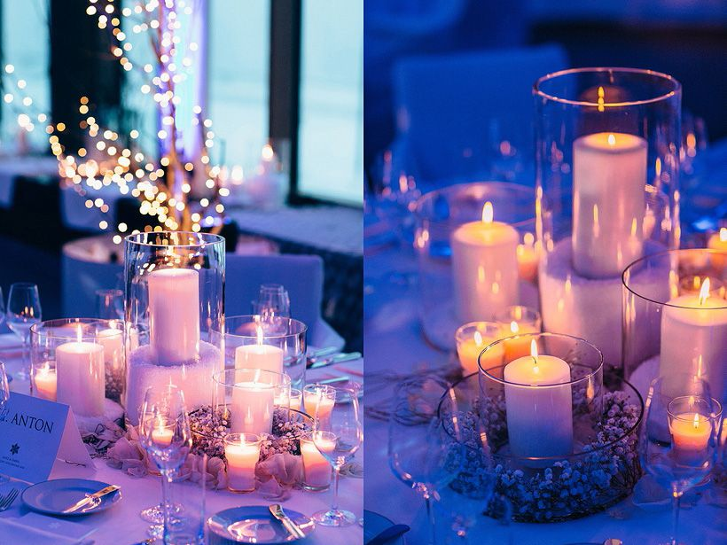 Beautiful Winter Wonderland Wedding Decoration Centerpieces