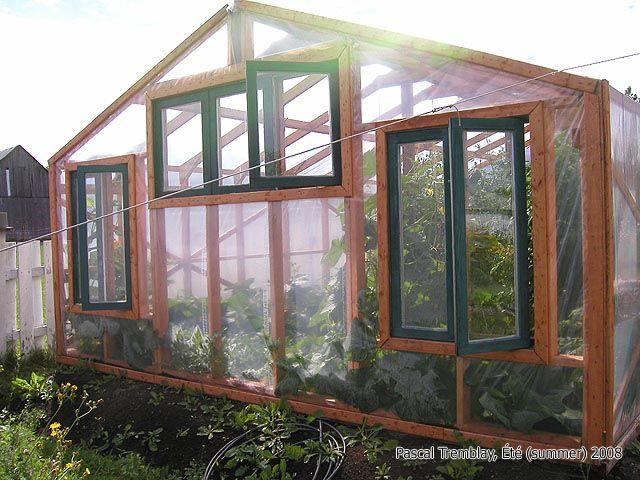 Fabrication D Une Serre De Jardin Par Grandjardinier Sur Le Cdb Idee Jardin Deco Serre En Bois Serre Jardin Et Jardins
