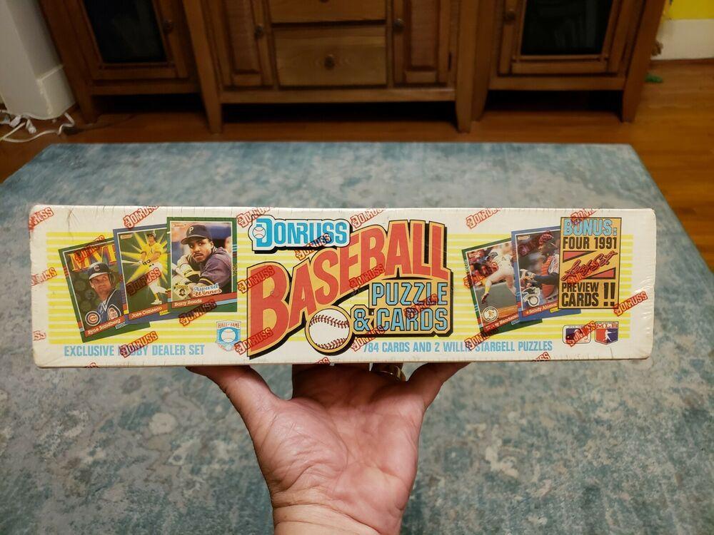 1991 donruss baseball factory sealed complete hobby dealer