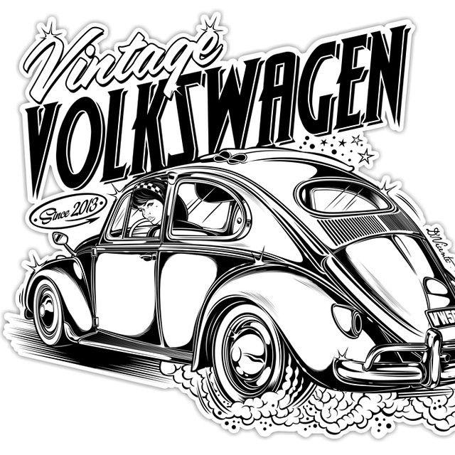 Design Vintage Volkswagen Padgram