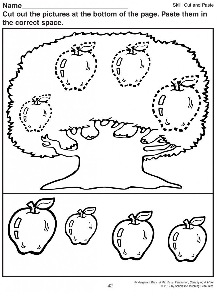 Pin On Pediatric Ot Thanksgiving cut and paste worksheets