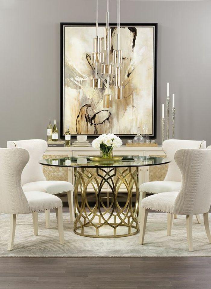 1001 Idees Captivantes D Interieur Art Deco A Recreer Chez Vous Salle A Manger Contemporaine Salle A Manger De Luxe Table Salle A Manger