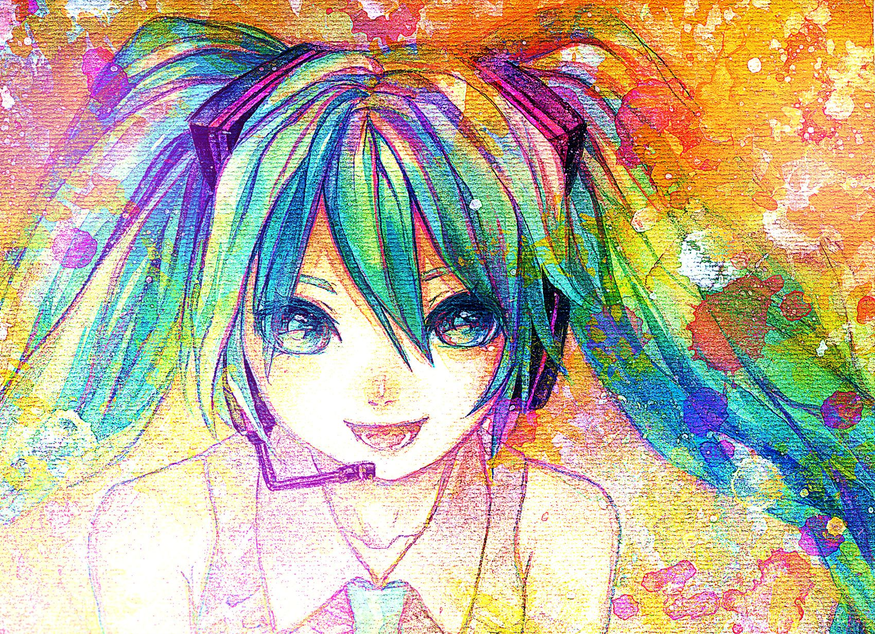 digital anime art | Hatsune Miku, anime, anime girl, aqua, aqua eyes, aqua hair, art ...